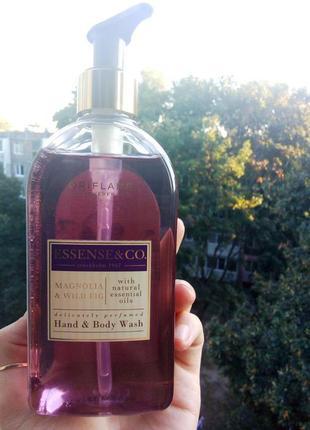 Жидкое мыло для рук и тела с магнолией и инжиром essense~co