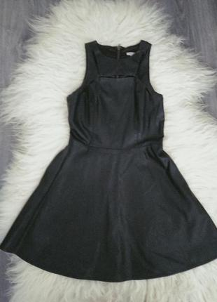 Кожаное платье forever 21