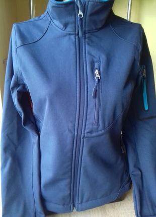 Куртка женская на флисе софтшелл crane размер s софтшел softshell
