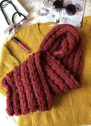 Вязанный шарф хомут снуд 🧣❤️
