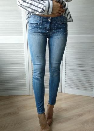 Узкие джинсы с камушками ххс(6) denim