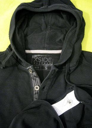5be80410a72b 44-46р. xside clothes (оригинал) трикотажная толстовка лонгслив пайта с  капюшоном