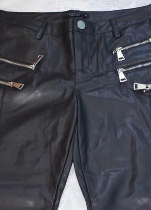 Классные брюки под кожу, 36 размер3