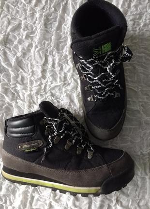 Теплые зимние ботинки karrimor waterproof унисекс состояние новых 39-40