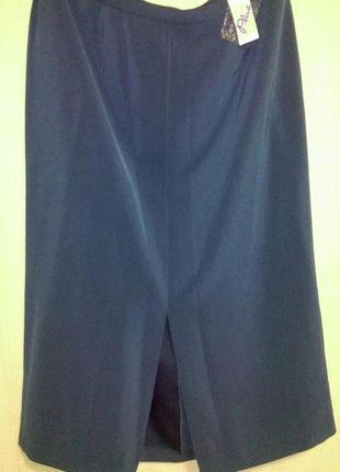 Красивая длинная  юбка с разрезом впереди большого размера
