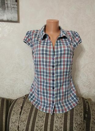 Рубашка-блузка с коротким рукавом
