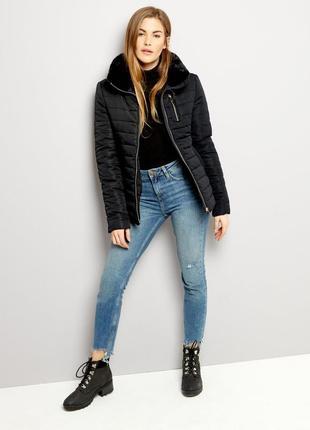Теплая стильная куртка с мехом