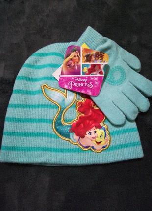 Комплект шапка и перчатки
