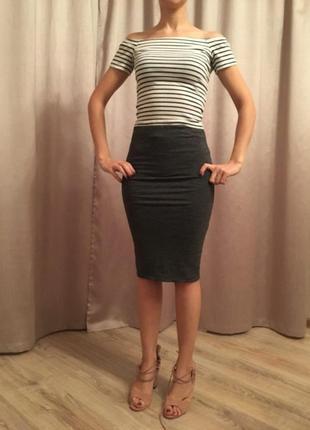 Трикотажная юбка карандаш