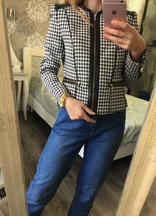 Пиджак на подкладке в гусиную лапку