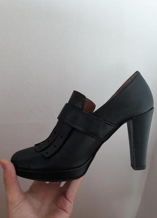 Очень модные кожаные итальянские туфли vera pelle5 фото