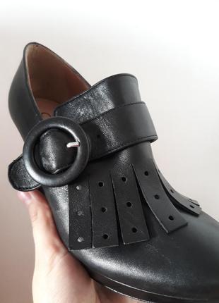 Очень модные кожаные итальянские туфли vera pelle4 фото