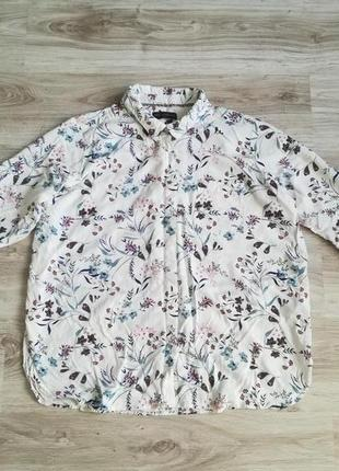 Крутая рубашечка в цветочный принт!
