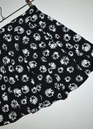 Юбка клеш, юбка колокольчик в цветы h&m