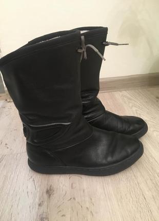 Кожаные сапоги угги adidas original