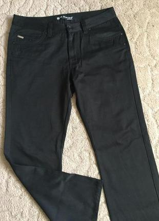 Супер джинсы муж утеплённые черные раз xl(36)