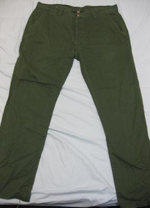 """Зеленые коттоновые коттон зауженные узкие брюки джинсы denim co w34"""" полуобхват 43,5см"""