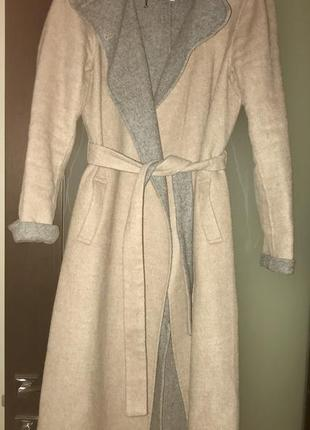 Jasper conran пальто халат шерстяное