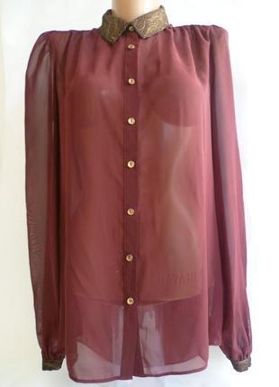 Шифоновая бордовая блуза atmosphere