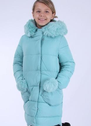 Зимняя куртка полу-пальто для девочки kiko 4568 кико