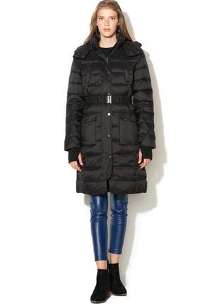Новый длинный (непромокаемый) пуховик benetton it40 (xs), it42 (s) парка куртка