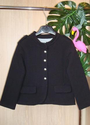 Пиджак трикотажный , утеплен махрой  на 4-5 лет