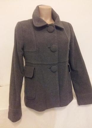Короткое пальто mango шерсть лана + кашемир