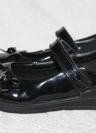 Туфли лаковые натурал clarks 32p