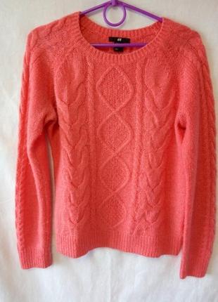 Персиковый свитер h&m