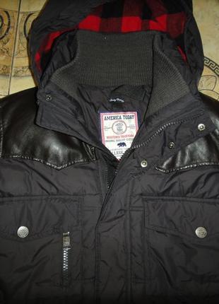 Шикарная, очень теплая зимняя куртка america today на мальчика р. 46 (s)нидерланды