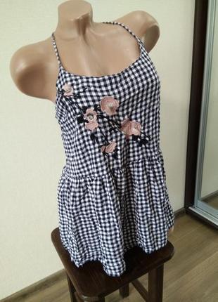 Майка маечка блуза блузка размер 16 вышивка