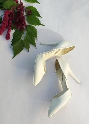 Свадебные туфли, белые туфли нарядные туфли от lino marano