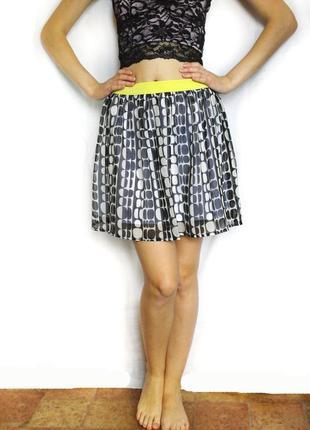 Стильная летняя шифоновая юбка