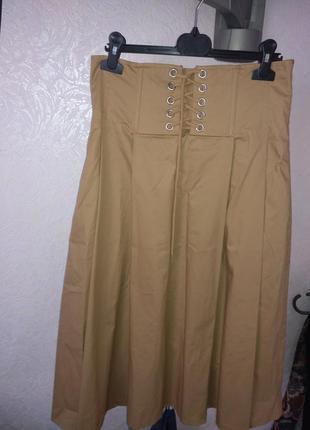 Шикарная юбка с высокой талией