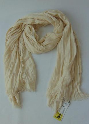 Легкий шарф-палантин жатка акрил terranova италия сток