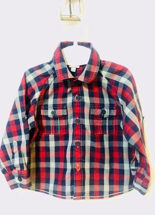 Рубашка в клеточку1 фото