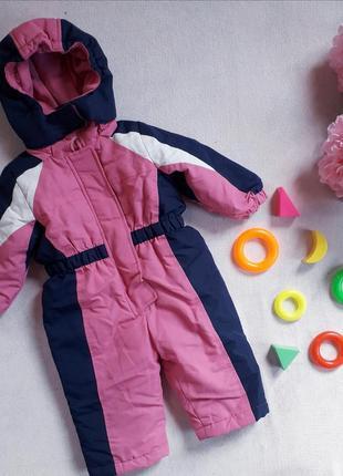 Детский комбинезон демисезонный зимний для девочки на флисе