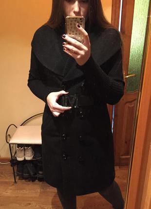 Шерстяное пальто max mara тренч двубортное пальто теплое максмара