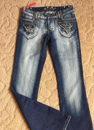 Супер джинсы жен новые с потёртостью раз m(38)