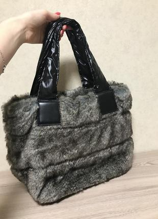 Зимняя сумка из эко-меха