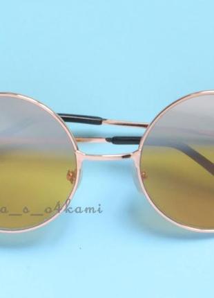 Модные новые круглые очки с линзами стекло