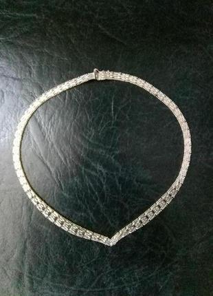 Колье серебро 925