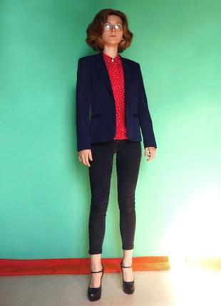 Высококачественный синий пиджак usa ретро винтаж