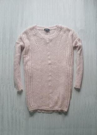 Вязаный свитерок оверсайз нежного  цвета