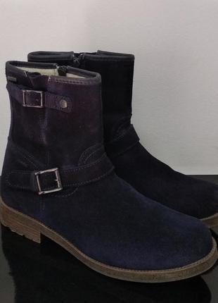 Утепленные замшевые ботинки marc с gore-tex мембраной