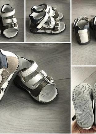Ортопедические кожаные сандали