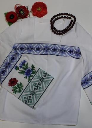 Обнова! вышиванка бисером вышитая рубашка туника новая ручная работа + подарок
