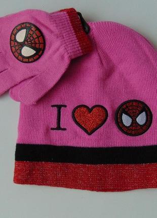 Набор 2 предмета шапка-перчатки marvel