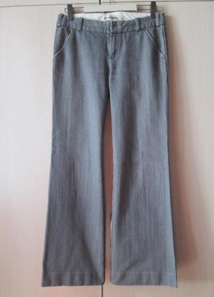 Стильные брюки клеш, модные джинсы gap с косыми карманами, штанина клёш от бедра, р. uk10