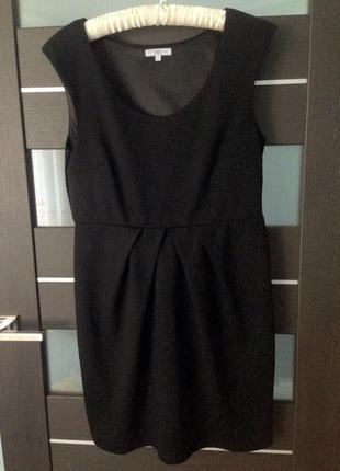 Строгое офисное чёрное платье new look 14р